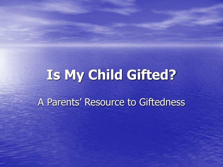 is my child gifted n.