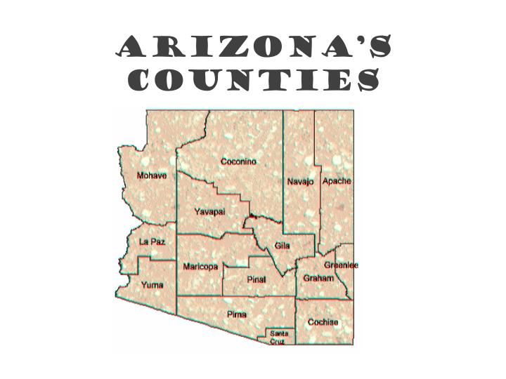 Arizona s counties