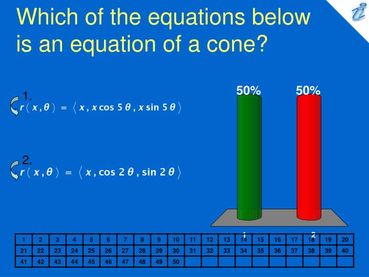 which of the equations below is an equation of a cone n.
