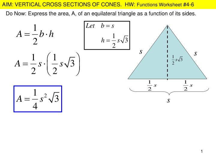 ppt do now express the area a of an equilateral