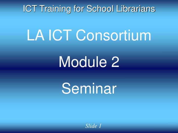 ict training for school librarians n.