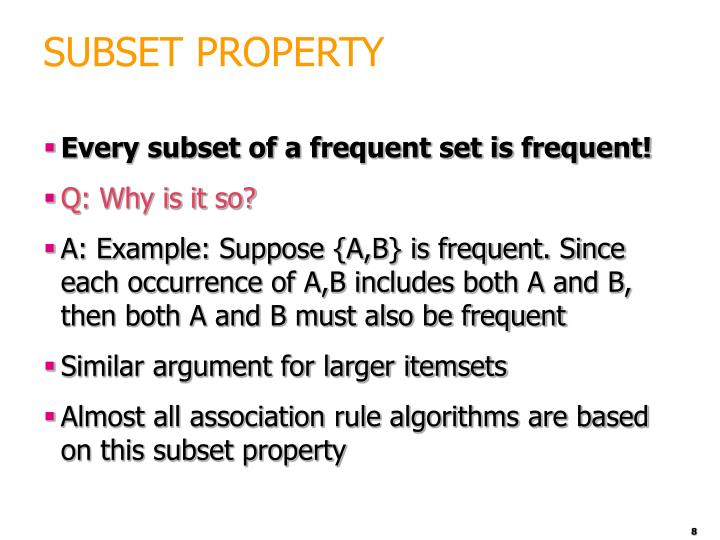 SUBSET PROPERTY