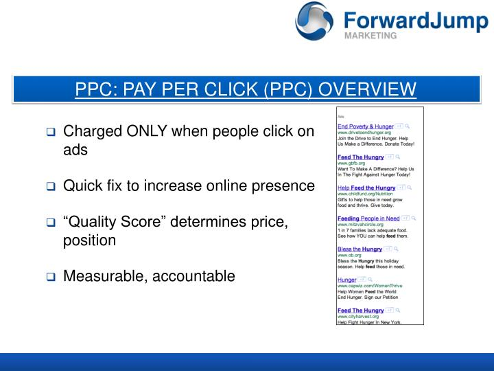 PPC: PAY PER CLICK (PPC) OVERVIEW