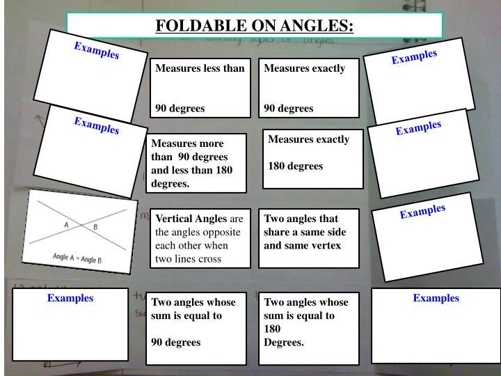 FOLDABLE ON ANGLES:
