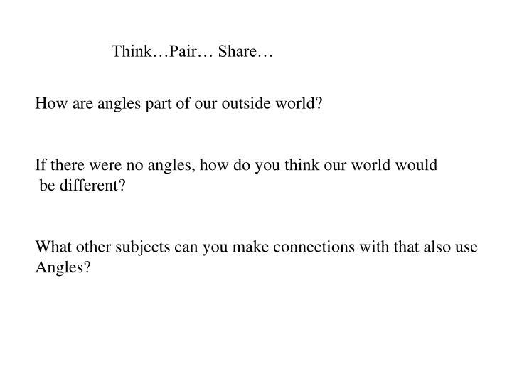 Think…Pair… Share…