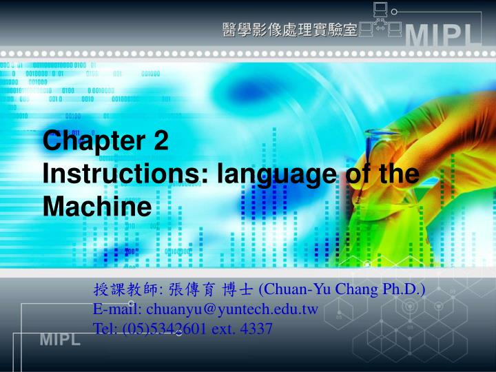 chapter 2 instructions language of the machine n.