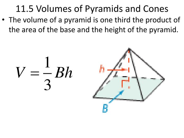 11 5 volumes of pyramids and cones n.