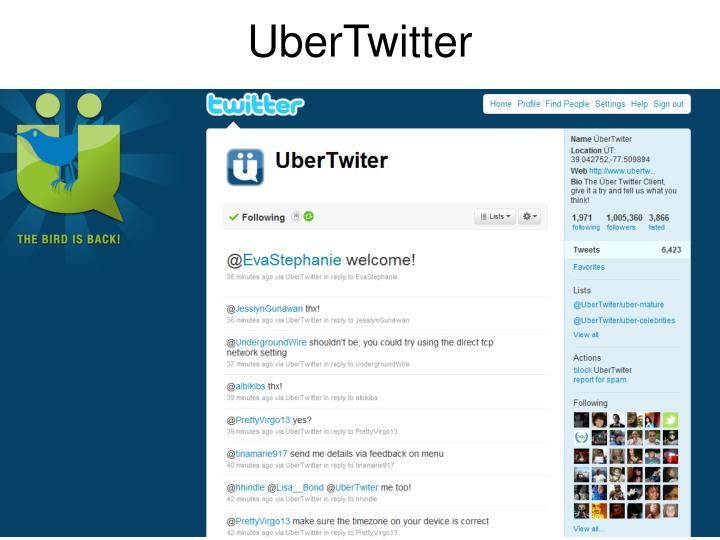 UberTwitter