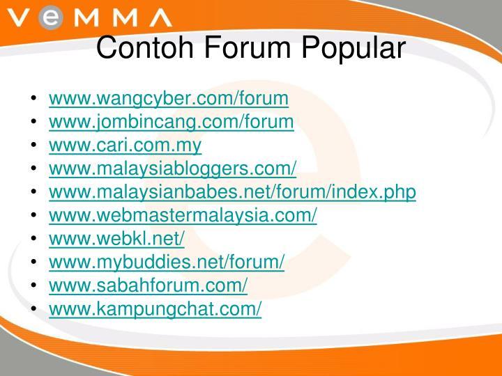 Contoh Forum Popular