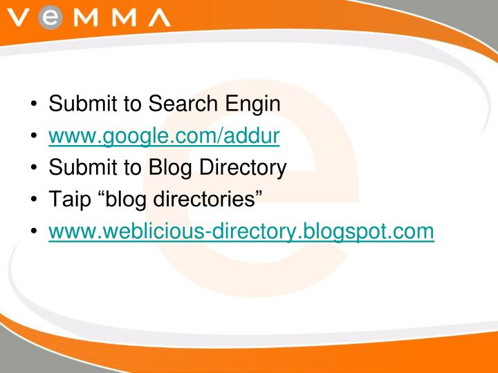 Submit to Search Engin
