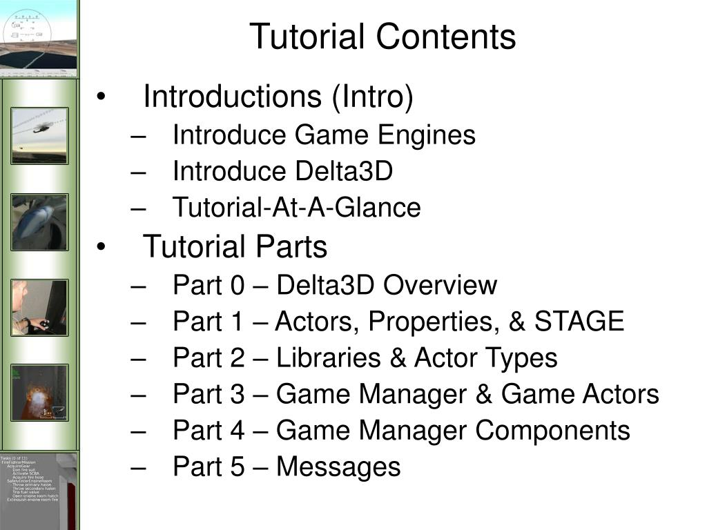 PPT - Building Game-Based Trainers with the Delta3D Game Manager