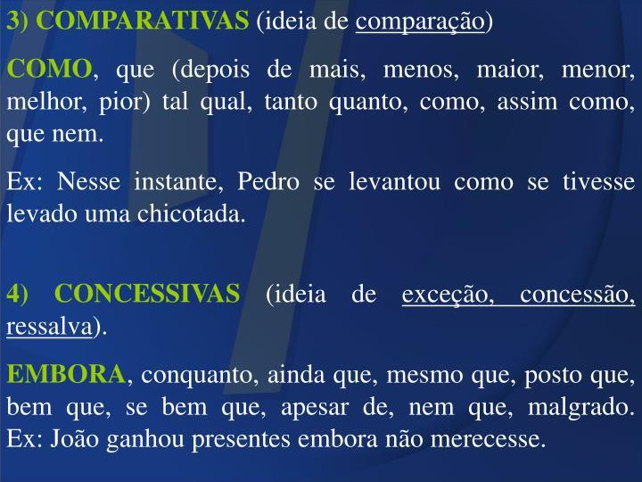 3) COMPARATIVAS