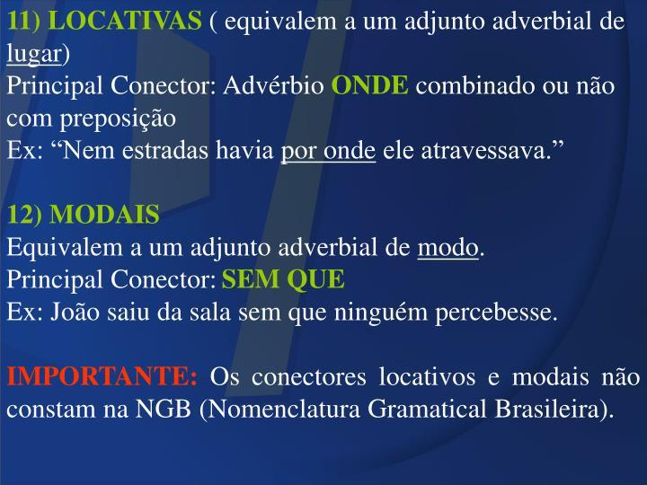 11) LOCATIVAS