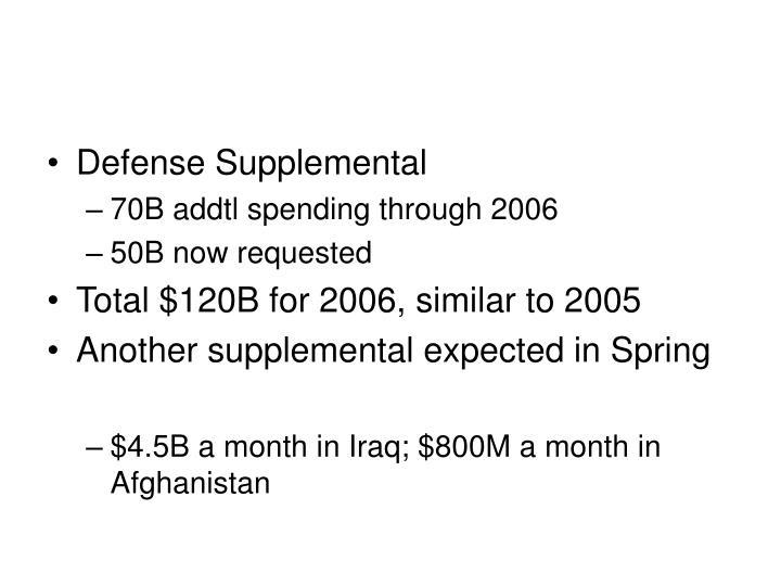 Defense Supplemental