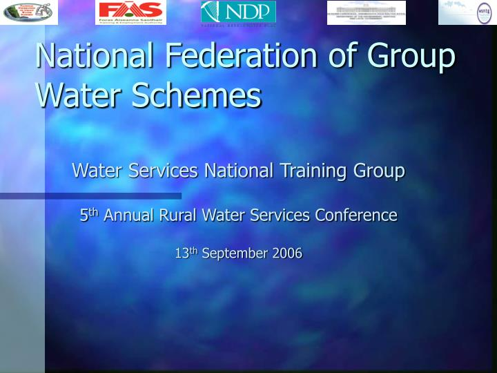 national federation of group water schemes n.