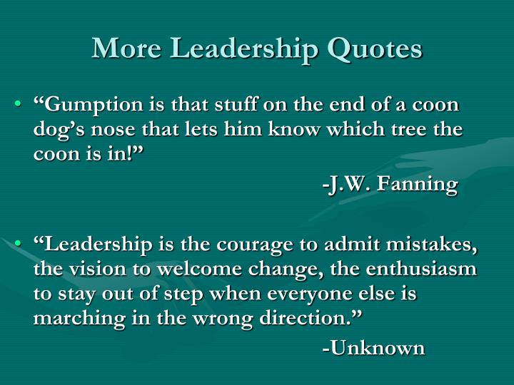 More Leadership Quotes
