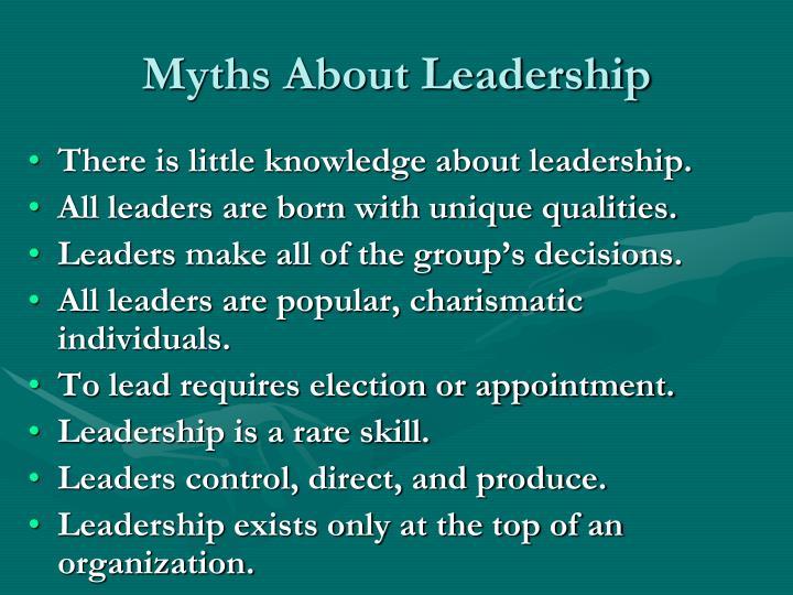 Myths About Leadership