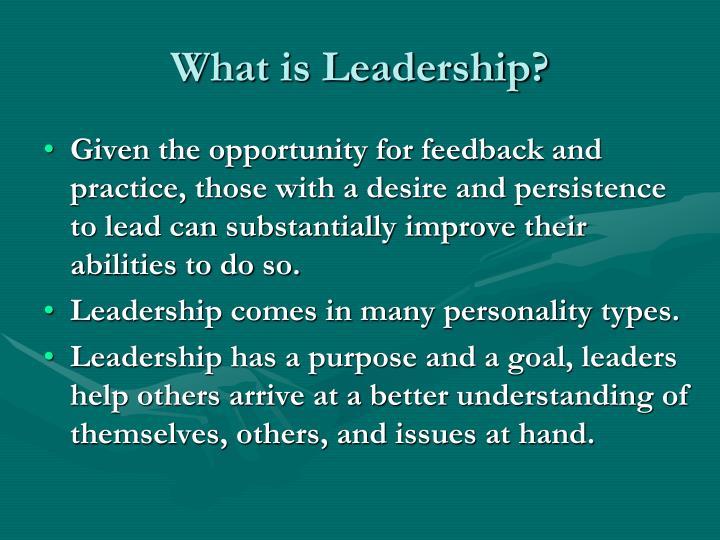 What is leadership1