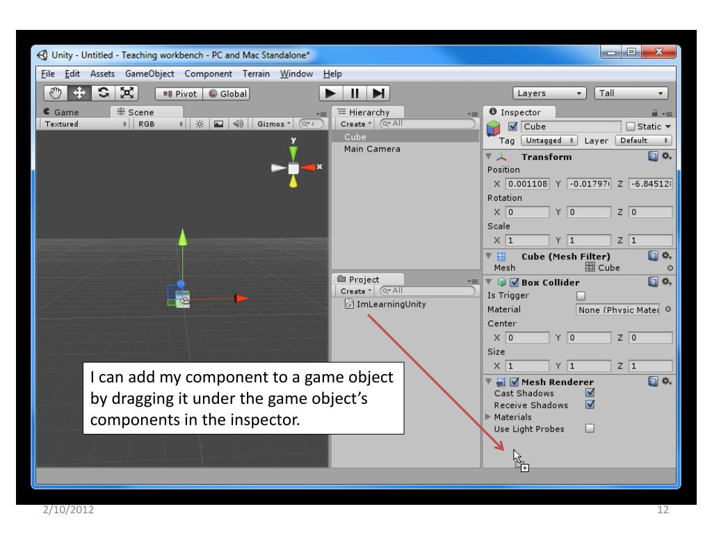 PPT - SE 320 – Introduction to Game Development PowerPoint
