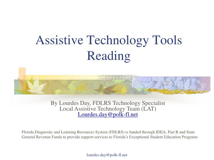assistive technology tools reading n.