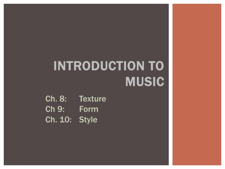 introduction to music n.