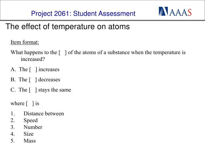 the effect of temperature on atoms n.
