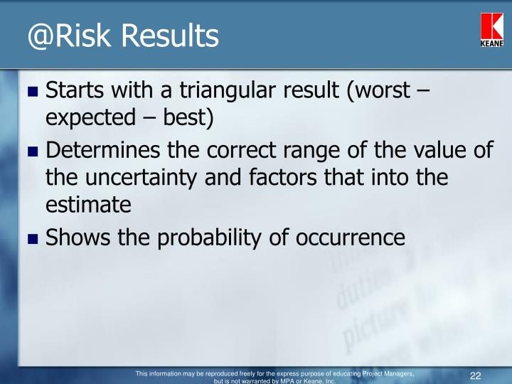 @Risk Results