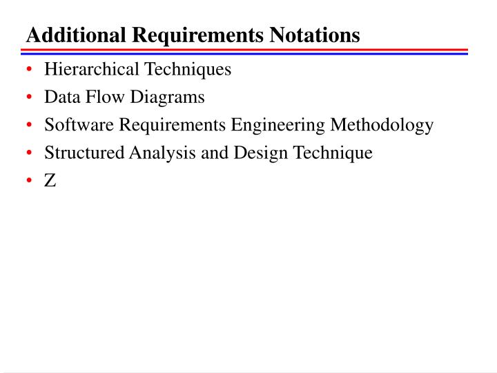 Additional Requirements Notations