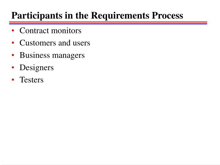Participants in the Requirements Process