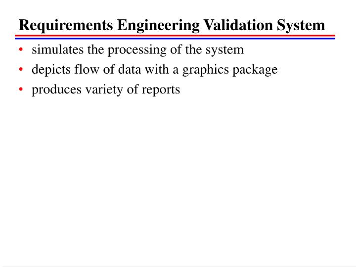 Requirements Engineering Validation System