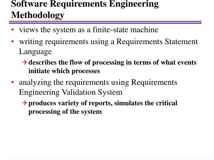 Software Requirements Engineering Methodology