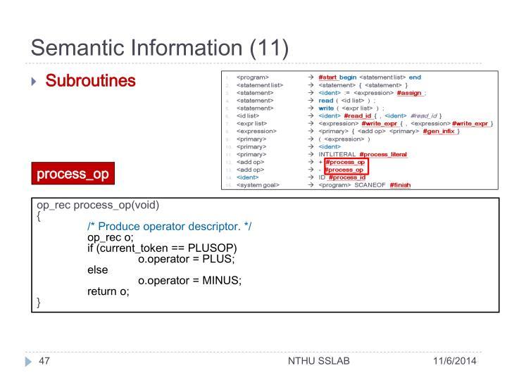 Semantic Information (11)