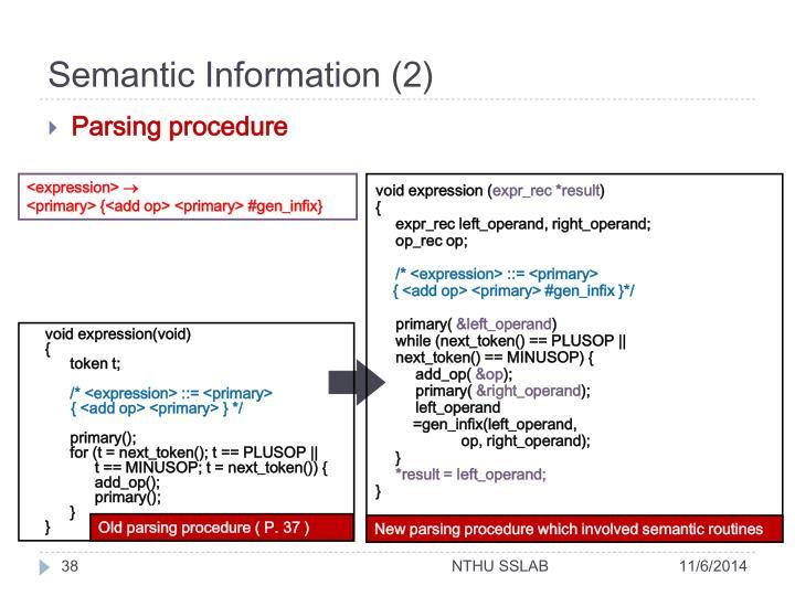 Semantic Information (2)