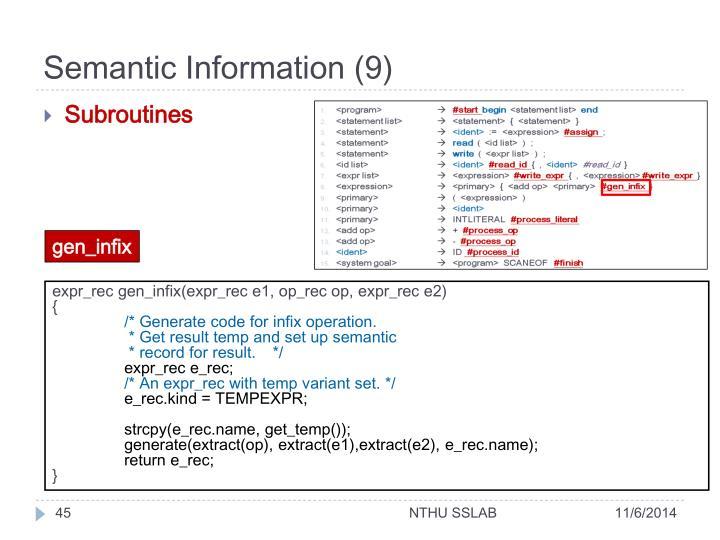 Semantic Information (9)