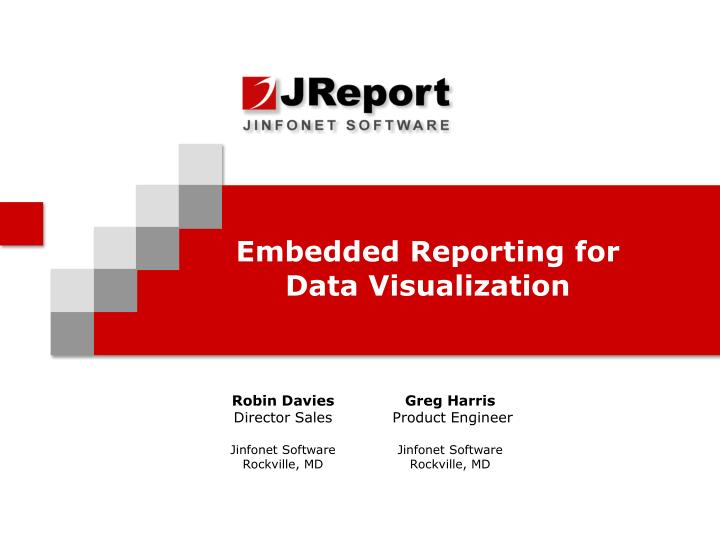 embedded reporting for data visualization n.