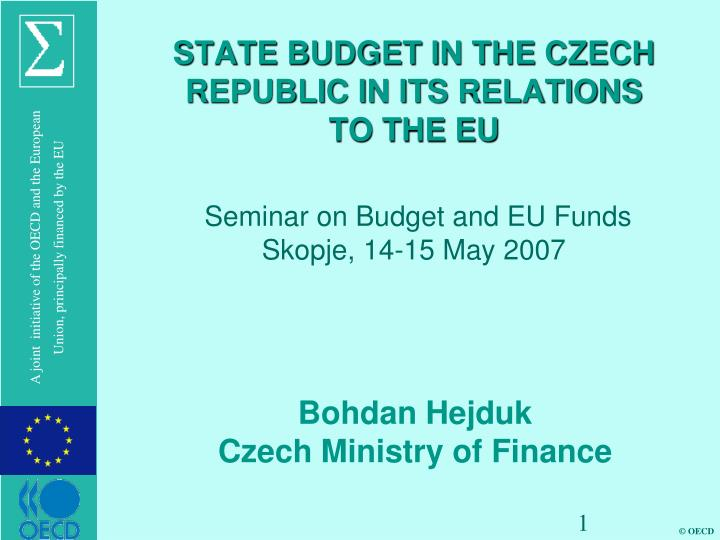 state budget in the czech republic in its relations to the eu n.