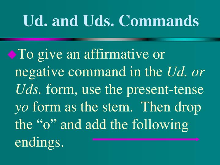 Ud and uds commands1