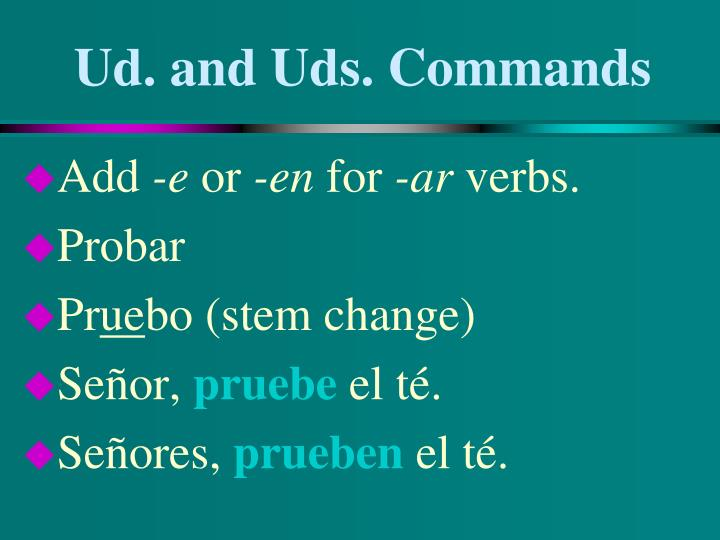 Ud and uds commands2