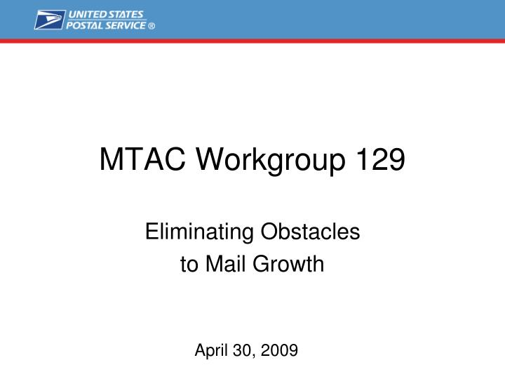 mtac workgroup 129 n.