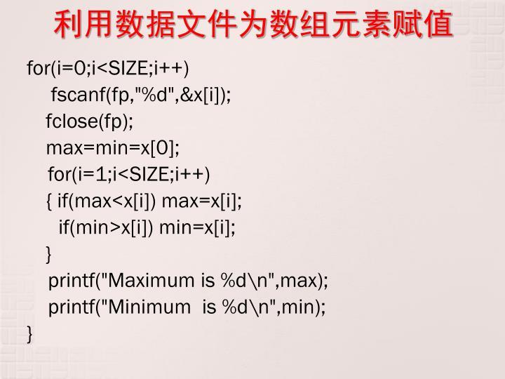 利用数据文件为数组元素赋值