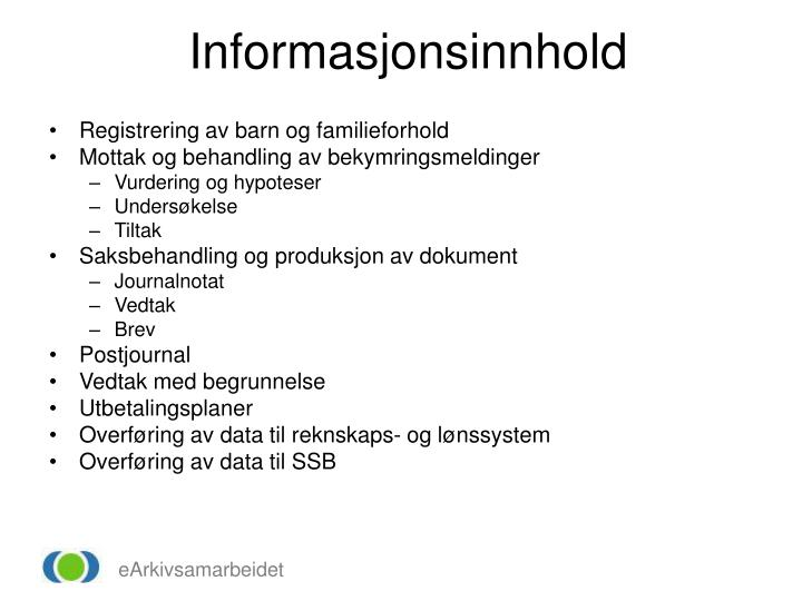 Informasjonsinnhold