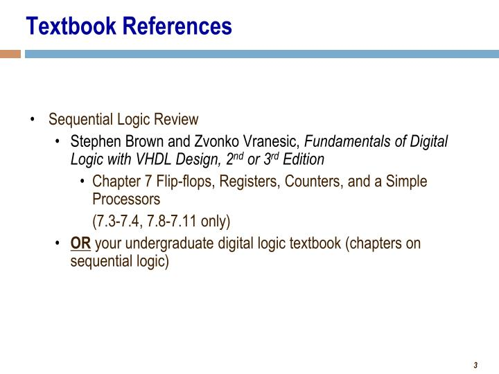 Textbook references