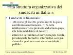 la struttura organizzativa dei sindacati in italia 2