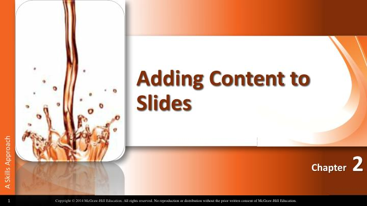 adding content to slides n.