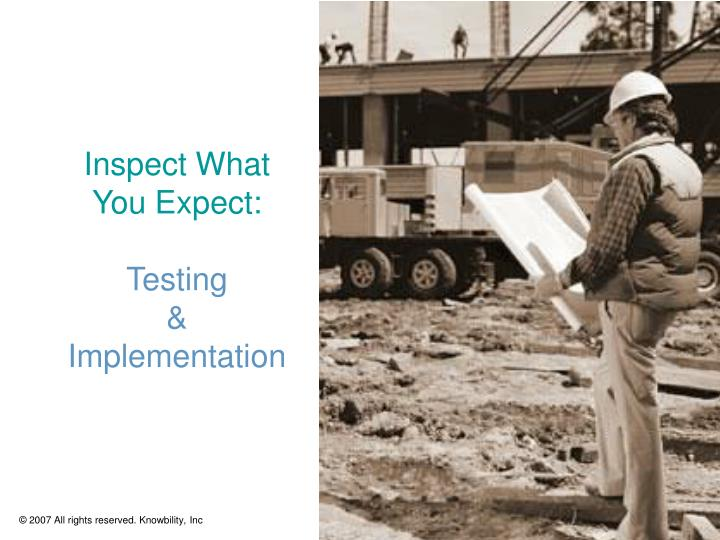 inspect what you expect testing implementation n.