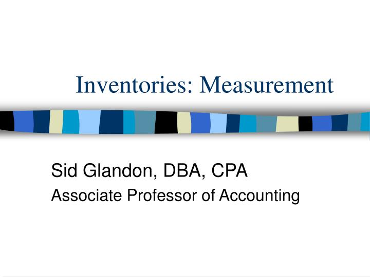 inventories measurement n.