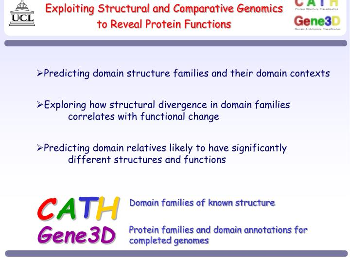 exploiting structural and comparative genomics to reveal protein functions n.