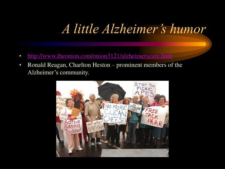 A little Alzheimer's humor