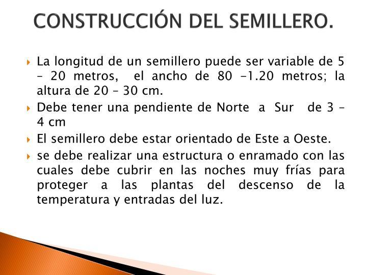 CONSTRUCCIÓN DEL SEMILLERO.