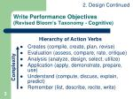 write performance objectives revised bloom s taxonomy cognitive